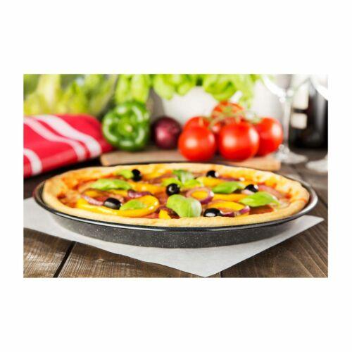 CHG Pizza en tôle EMAILLE Ø 32 x 3 cm Env Profonde