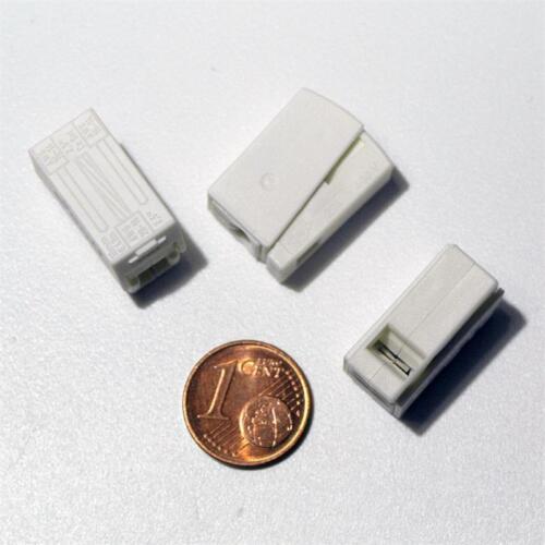 Leuchten-Wagos 2x 1,0-2,5mm² Lampenklemme 50 WAGO Duo-Klemmen Leuchtenklemmen