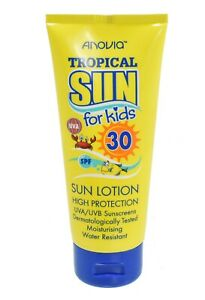 Tropical-Sun-SPF30-Kids-Crema-Solare-Lozione-Idratante-Crema-resistente-all-039-acqua-65ml