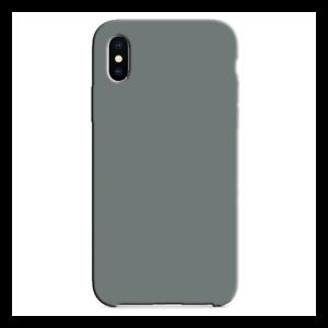 Détails sur Coque Silicone Gomme intérieur façon velours iPhone X/XS - Gris