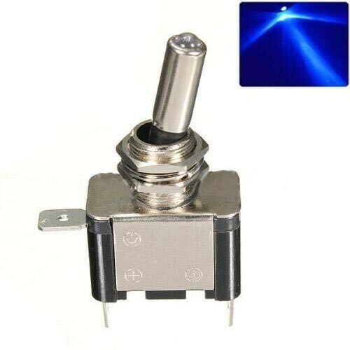 LED Illuminated Toggle Flick Switch Lighted On//Off Car Dash Dashboard 12V 20A