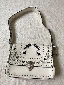 Image Is Loading Zara White Studded Crossbody Bag Ref 4403 204