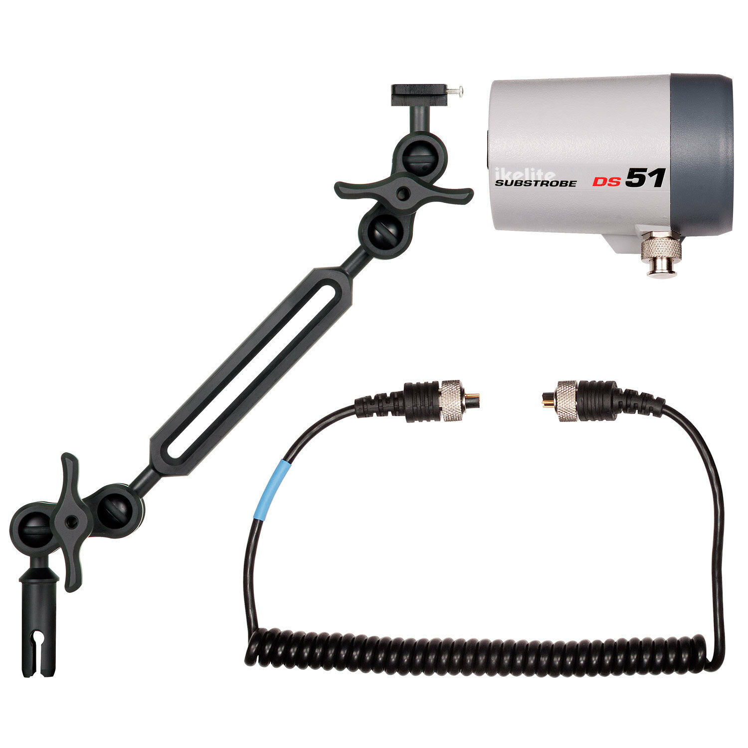 Ikelite DS51 -  Mounted on a Single Ikelite Ball Arm Mark II Light Set