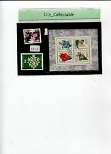 2 PCS & 1M/S FDI RUSSIA FLOWERS USED STAMPS # S313