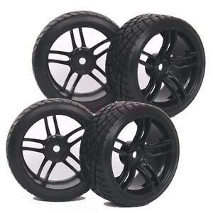 4pcs Rc 1 10 On Road Drift Car Tyre Tires Wheel Rim Fit Hsp