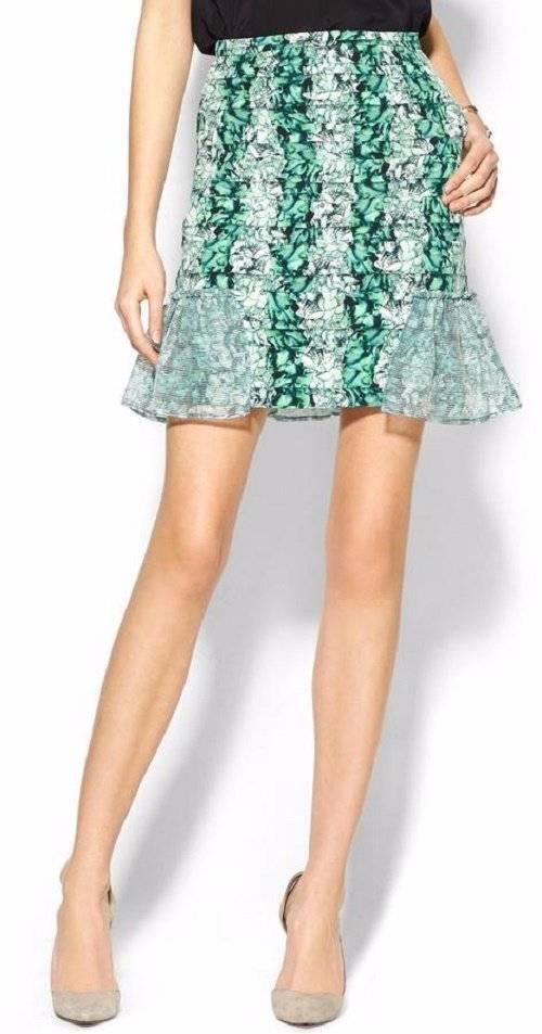 Rachelalex Green Riptide Skirt SZ S US 4 (1651B3)