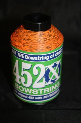 BCY 452X Bowstring-matériau 1//4lb Sunset Orange /& Noir Moucheté Bow String