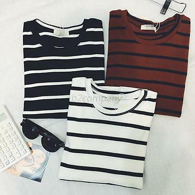 Women Casual Ladies Stripe Short Sleeve T-shirt Shirt Tops Blouse Top Summer New