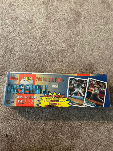 1994 Topps Baseball Complete Set Series 1 & 2 792 Cards NEW FACTORY SEALED