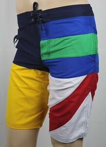 Children Polo Ralph Lauren Blue Yellow Red White Rugby Swim Board Trunks NWT