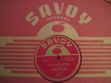 "VARETTA DILLARD ~ THEM THERE EYES / YOU ARE GONE ~ SAVOY 859 ~ R&B DOOWOP 78 10"""