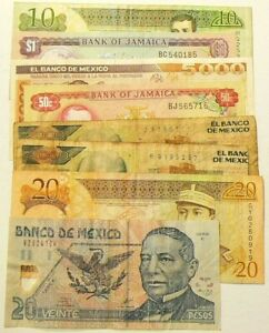 Central-America-Banknotes-Lot-of-8-Circulated-Notes-4811