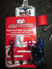New Sunline clutch brake lever rotator bar clamp + hot start lever blue YZ2194