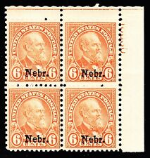 US 675 6c Nebraska Overprint Mint Plt Blk of 4 #18030 VF OG NH SCV $750