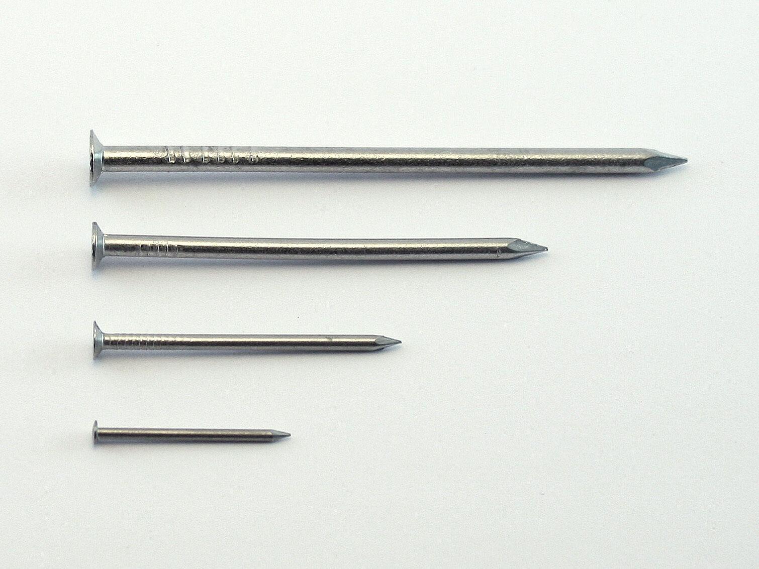 Drahtstifte Edelstahl V2A Nägel 1,5 - 6 mm Senkkopf 1 2,5 kg made in Germany