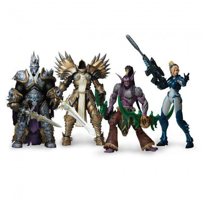 NECA Heroes of The Storm Series 1&2 Set Illidan Nova Tyrael Arthas Action Figure