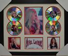 AVRIL LAVIGNE SIGNED MEMORABILIA FRAMED 4 CD LIMITED EDITION CREAM