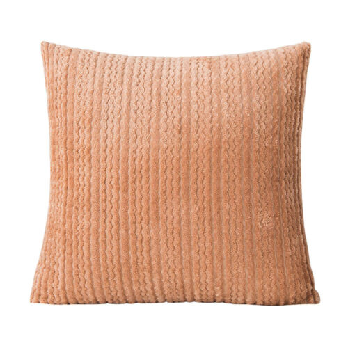Solid Color Soft Velvet Cushion Cover Small Wave Pattern Pillow Case Home Décor