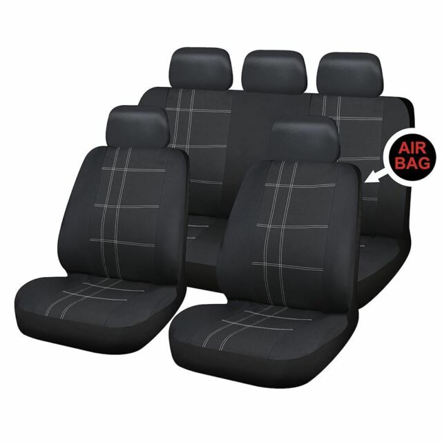 Black Car Seat Covers Heavy Duty Front Waterproof For Vauxhall Most Models
