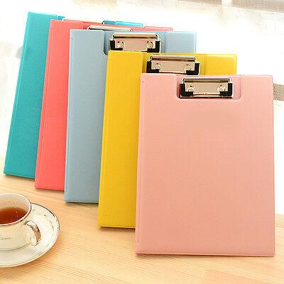 A4 Paper Pockets File Folder Holder Document Jacket Clip School Office Supply