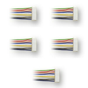 Digitrax-DHWH-9-pin-to-wires-wire-harnesses-5-Pack-HO-Scale
