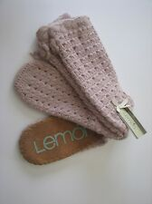 Lemon Cozy Warm Angora Boot Slipper Sock Pink NWT 0/S