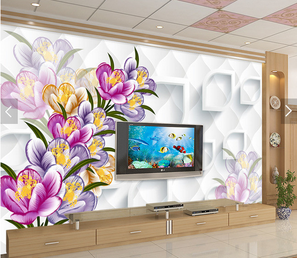 3D Farbe Petals 559 Wallpaper Murals Wall Print Wallpaper Mural AJ WALL AU Kyra