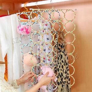 Image Is Loading 28 Ring Scarf Holder Tie Hanger Belt Closet