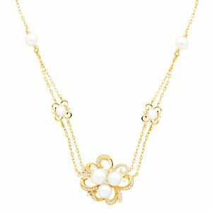 Freshwater-Pearl-amp-1-5-ct-Diamond-Floral-Station-Pendant-in-10K-Gold