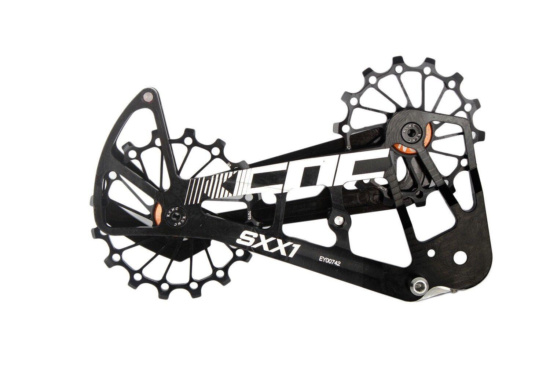 KCNC SXX1 Bicicleta Bici de montaña jaula de polea de gran tamaño para Águila Sram XX1 Negro