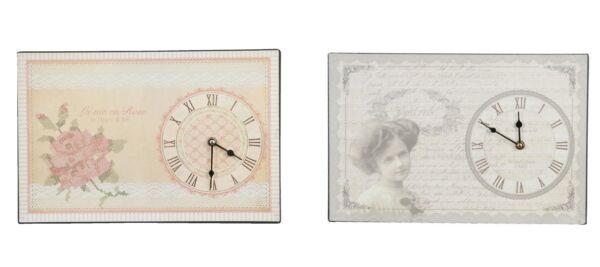 Clayre Und Eef Wand-uhr Landhaus Shabby Chic Nostaglisch La Vie Rose Madame Bild Grade Produkte Nach QualitäT
