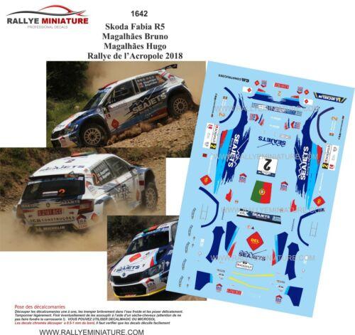 DECALS 1//43 REF 1641 Skoda Fabia R5 Magalhães Rallye de l'Acropole 2018