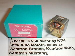 5 pole armature 4 Volt Vintage by KTM 1960's slot car with Box #DV 18F-4V NOS