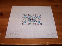 Hand Painted Needlepoint Canvas Miniature Dollhouse Size Persian Rug Carpet