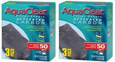 (2) AQUACLEAR 50 ACTIVATED CARBON 3PKS. 6 TOTAL.
