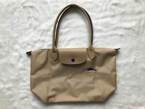 Details about Longchamp Le Pliage Club Collection Horse Embroidery Small  Tote Beige S