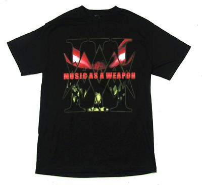 Disturbed Music As A Weapon Tour 2009 Black T Shirt New Official Band
