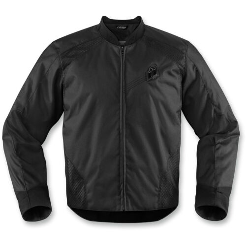 Icon Overlord Stealth Textile Motorcycle Motorbike Jacket Moto D3OAll Sizes