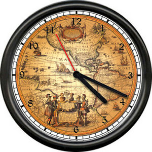 Retro vintage world map traveler historian history ancient art sign image is loading retro vintage world map traveler historian history ancient gumiabroncs Gallery