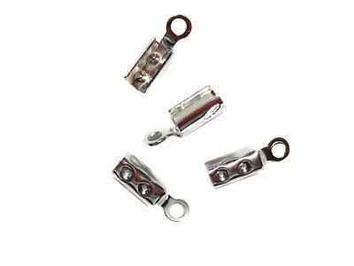 4 Endkappen Klemmbleche zum Quetschen 2 mm 925 Silber Schmuck basteln DIY   eBay