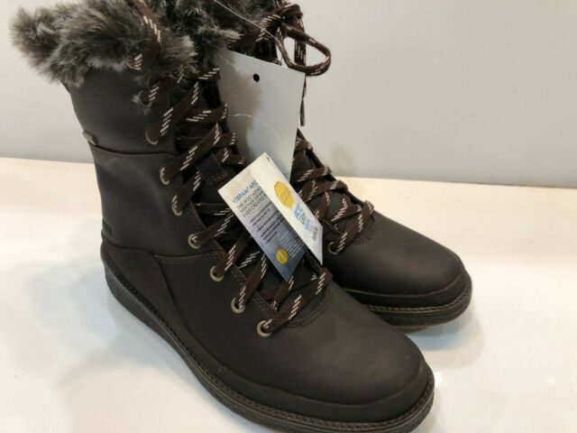 Merrell Womens Tremblant Ezra Lace Ice Waterproof Walking Boots Brown Sports