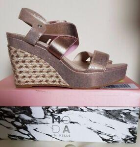 to buy brand new cheap for sale Moda In Pelle Rivel Wedge Sandal, Size 5/38, Rose Gold, BNIB   eBay