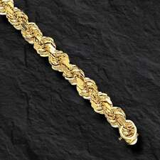 """14k SOLID Gold Diamond Cut ROPE Link Chain/Necklace 20"""" 7MM 80 grams (050SDC)"""