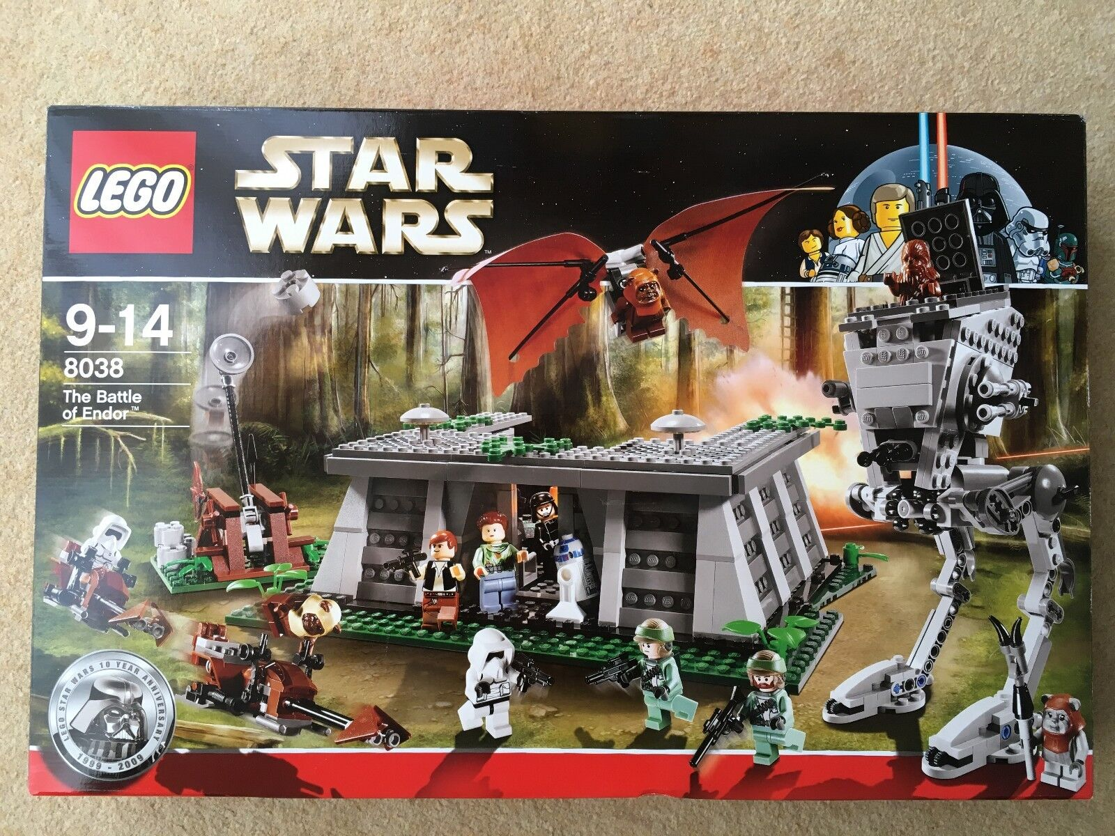 Lego 8038 - Star wars The battle of Endor - Near mint new condition 2009