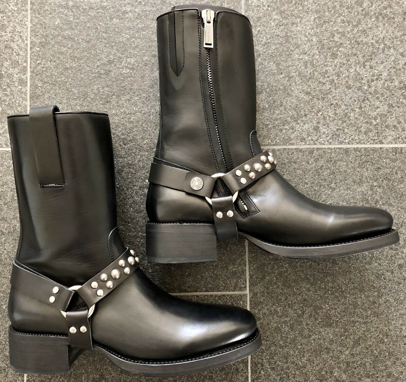 DSQUARED2 F/W 2015 20th anniversary ICON COLLECTION 45 black BOOTS studs STIEFEL