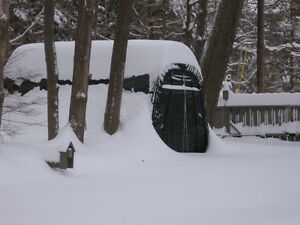 10x16x8 Round Shelterlogic Snow Shedding Portable Garage