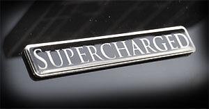 "Jaguar Range Rover Supercharged Custom Emblem 5/"" x .5/"" real metal black"