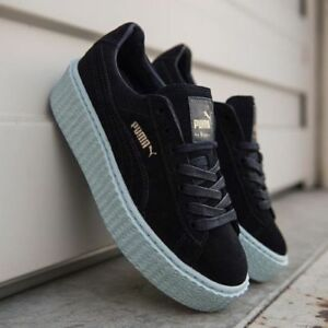 premium selection b1deb 20034 Details about Puma Fenty By Rihanna Women's Creeper Sneakers Black Suede  Peacoat Blue Size 9.5