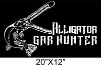 Bowfishing Sticker Alligator Gar Hunter Detailed Vinyl Decal Boat 20x12