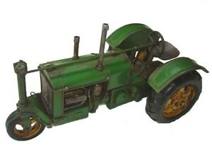 Handmade Iron Metal Vintage Tractor Model 10.6 inches Long